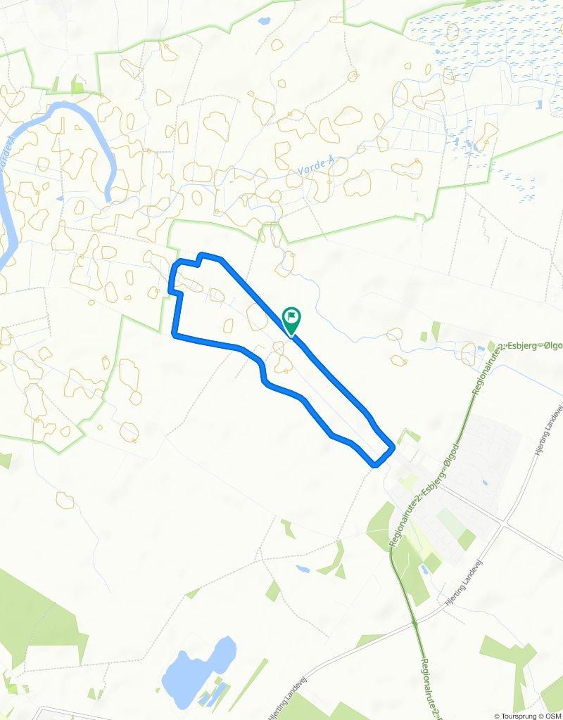gå/cykel ture i Alslev 2 . sort rute