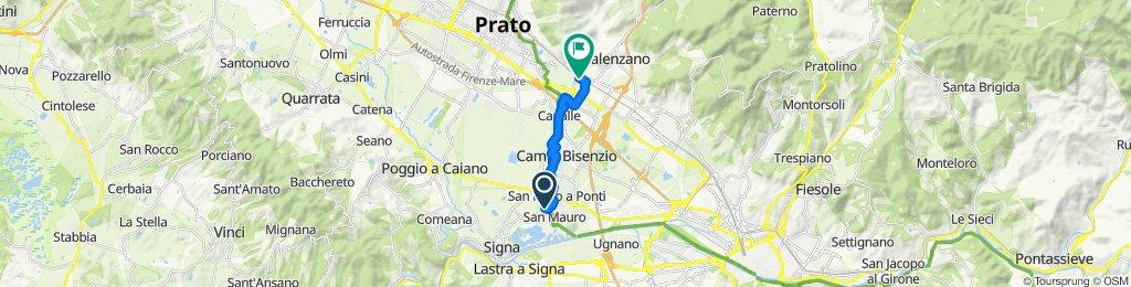 Via delle Bertesche 18/L, Signa to Piazza Stazione 3, Calenzano