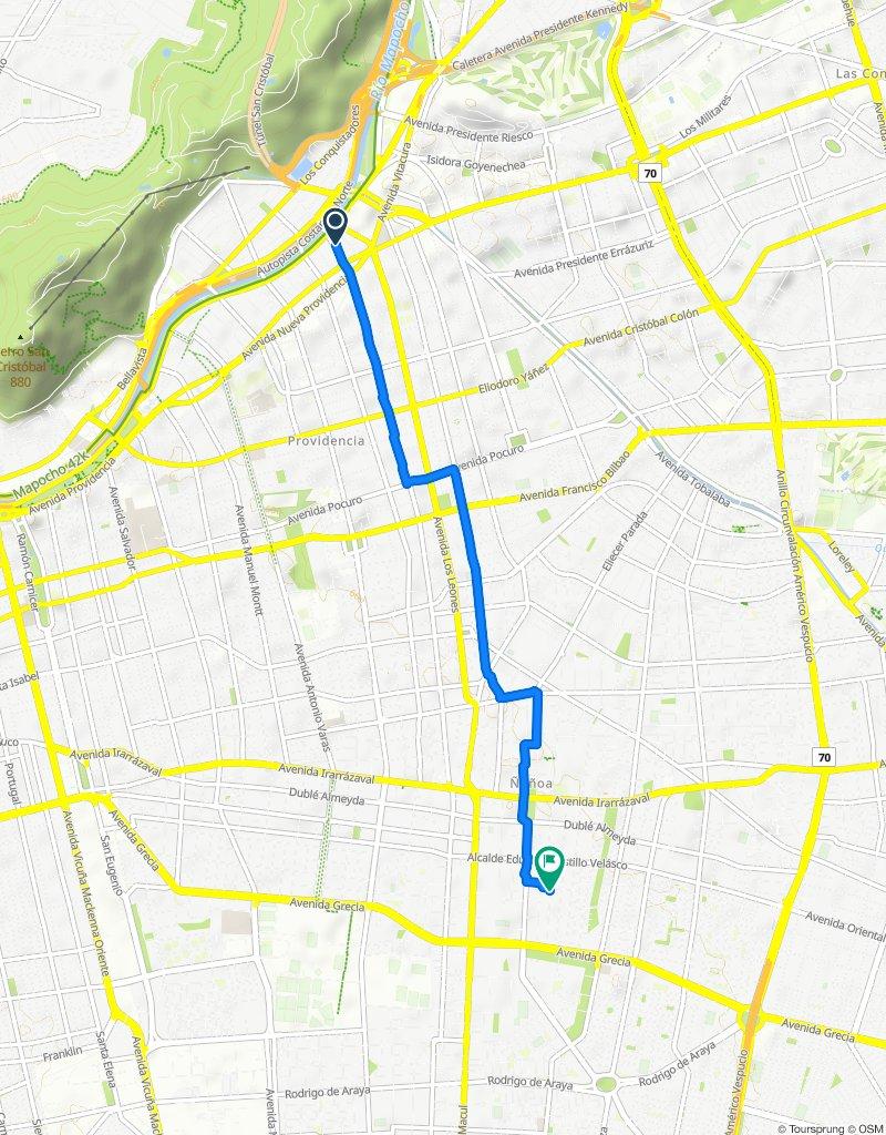Restful route in Ñuñoa