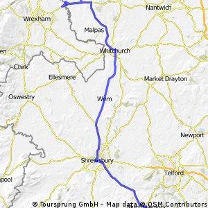LEJoG Stage 10: Much Wenlock to Chester