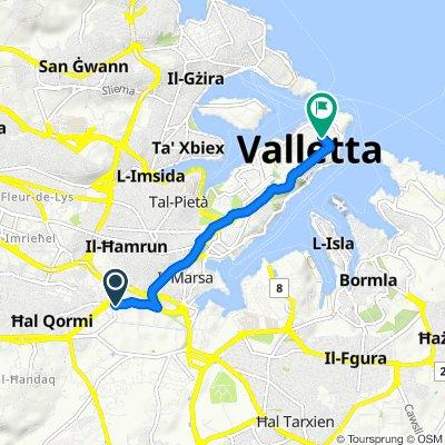 Slow ride in Valletta