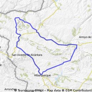 Carbajo-Aliseda-Alburquerque-Santiago