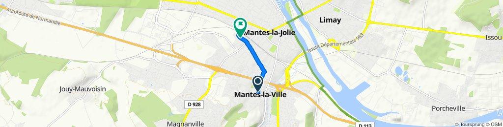 Itinéraire modéré en Mantes-la-Ville