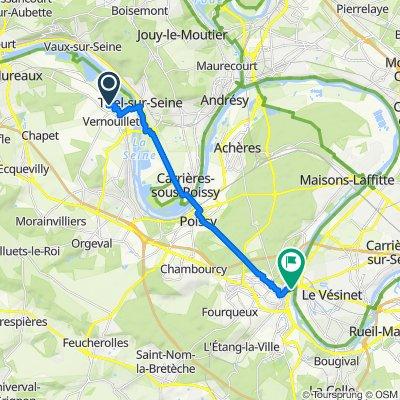 7 Rue du Placet, Verneuil-sur-Seine to 3 Quai Maurice Berteaux, Le Pecq