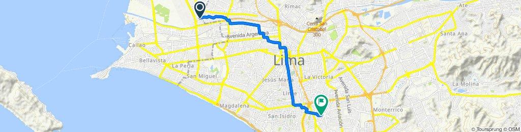 Ruta tranquila en San Isidro