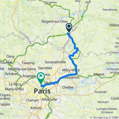 EU 14 _ Senlis - Paris _ 69 km