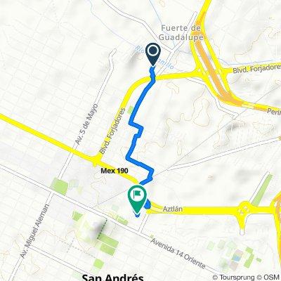 Itinéraire facile en San Andrés Cholula