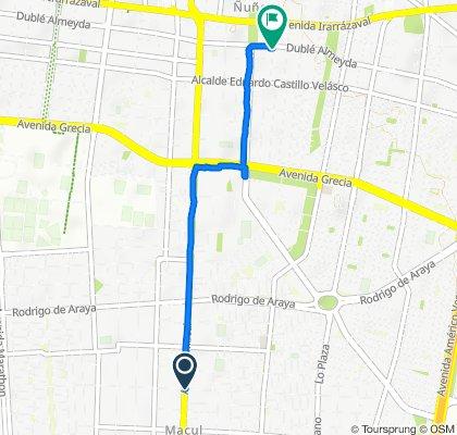 Avenida Macul 2652–2700, Macul to Brown Sur 281–389, Ñuñoa