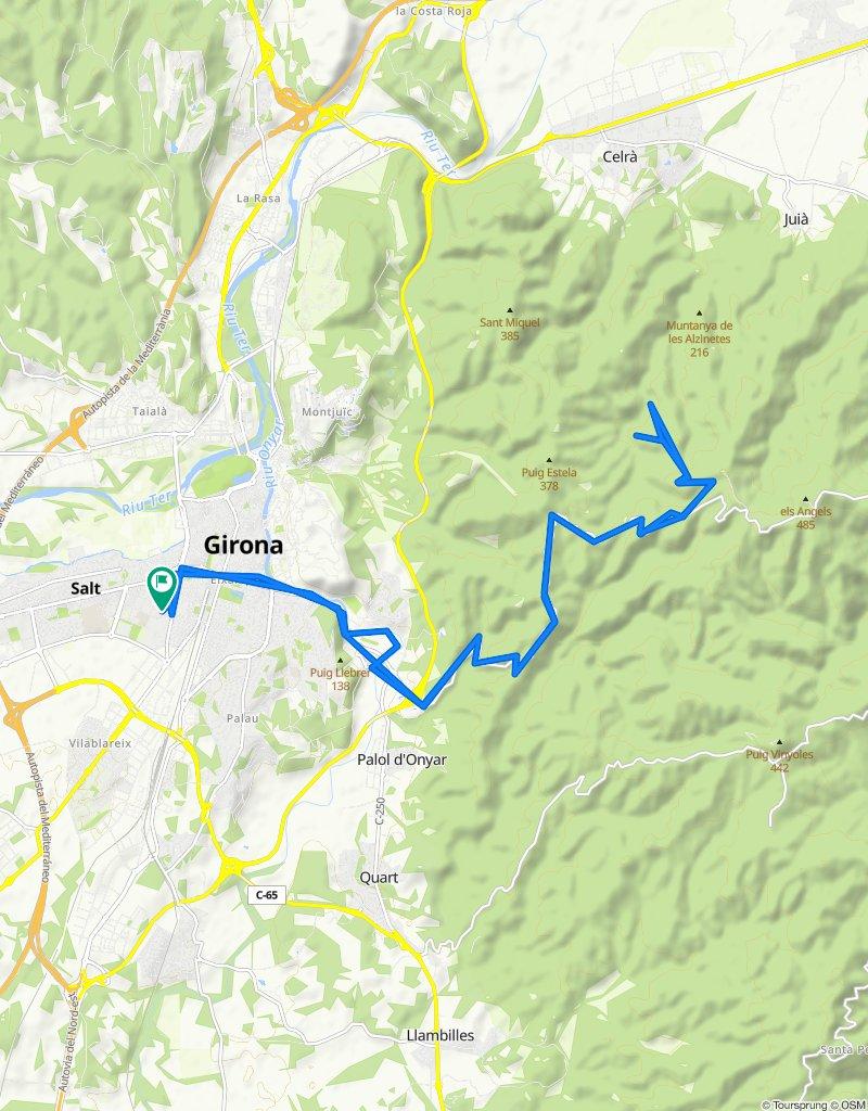 Ruta moderada en Girona