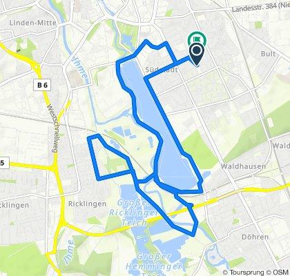 Gemütliche Route in Hannover