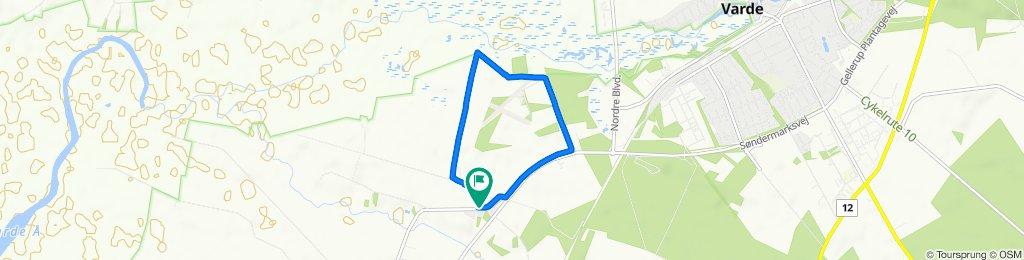 gå/cykel ture i Alslev 3 .hvid rute