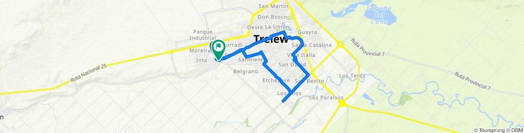 Ruta tranquila en Trelew