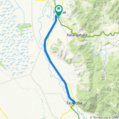 Steady ride in Paeroa