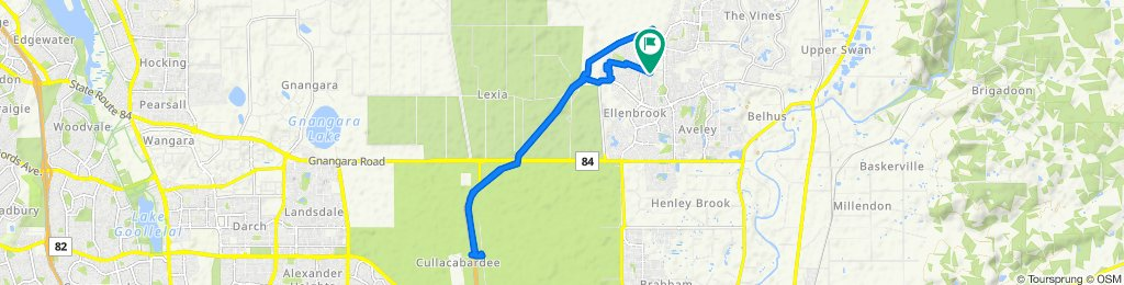 Supersonic route in Ellenbrook