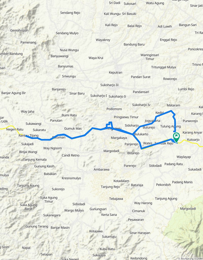 High-speed route in Kecamatan Gading Rejo