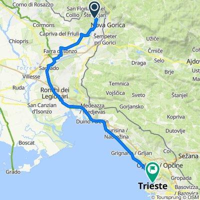 Località Dosso del Bosniaco 11, Gorizia to Largo Città di Santos, Trieste