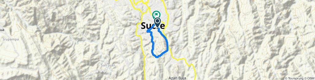 Ruta Centro, El Guereo, El Abra, Av. Circunvalación, B. America, B. SENAC, San Roque, Plaza 25 de Mayo, Plazuela 1ro. de Mayo.