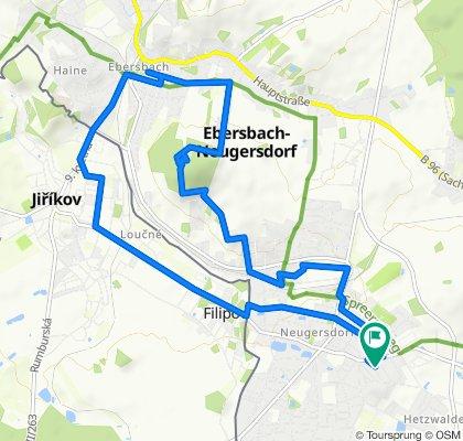 Neugersdorf-Ebersbach-Schlechteberg-Felsenmühle