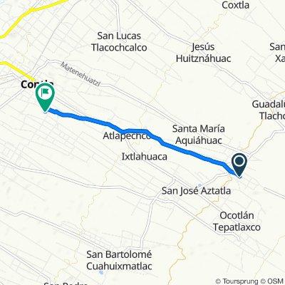 Calle 5 de Febrero 50, San Felipe Cuauhtenco to Calle José María Morelos 124, Contla