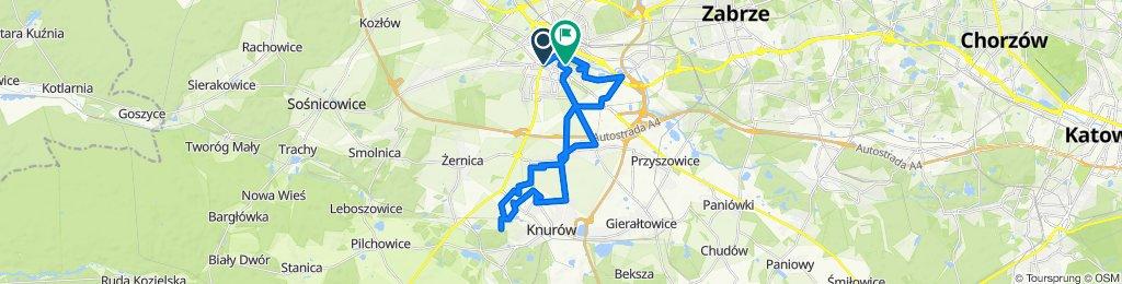 Powolna trasa w Gliwice