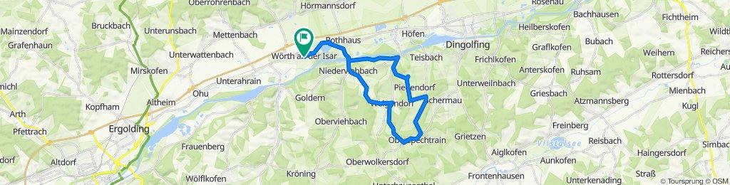 Wörth-Niederviehbach-Gummering-Loiching-Oberspechtrain-Weigendorf-Süßbach-Niederviebach-Wörth