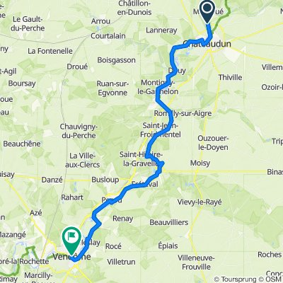 EU 18 _ Chateaudun - Vendome _ 57 km
