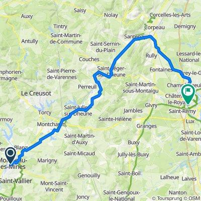 EU 27 _ Montceau les Mines - Chalon sur Saone _ 72 km