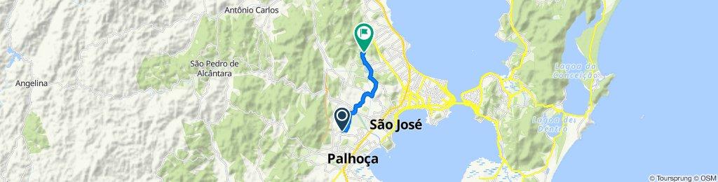 Rua Portinari, 89, Palhoça to Acesso Publico, 902, São José