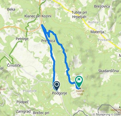 MTB Slavnik Night climb, bike
