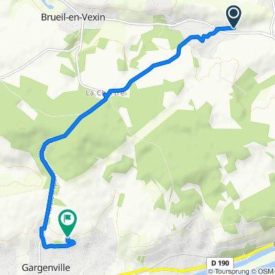 13 Chemin Gaillard, Oinville-sur-Montcient to 15 Rue des Belles Vues, Gargenville