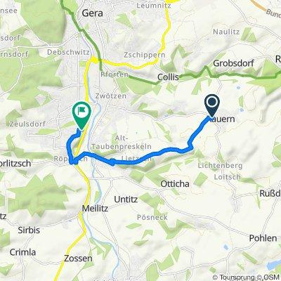 Schnelle Tour in Gera