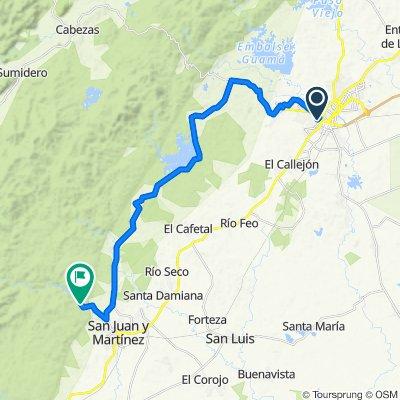 Pinar del Rio nach San Juan y Martinez