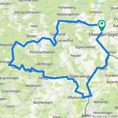 Ellwangen - Kocher-Jagst Teiletappe