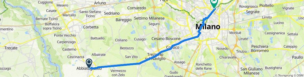 Piazza Guglielmo Marconi 2, Abbiategrasso to Via Adeodato Ressi 16, Milano