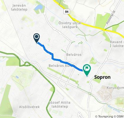 Wesselényi utca 23., Sopron to Magyar utca 17., Sopron