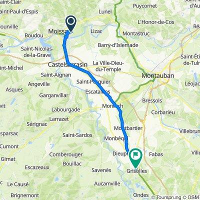 13.10. Moissac – Grisolles 39 km