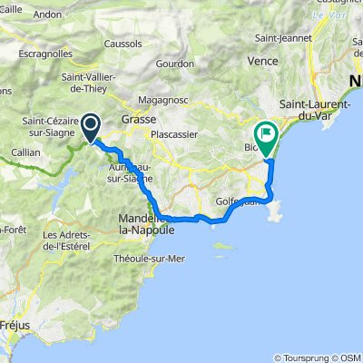 17 March 39km Le Tignet - Antibes