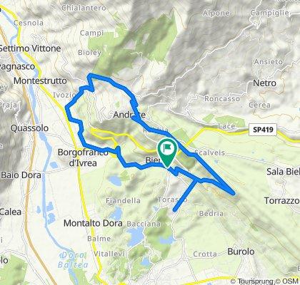 Giro a velocità lenta in Bienca-tomalino