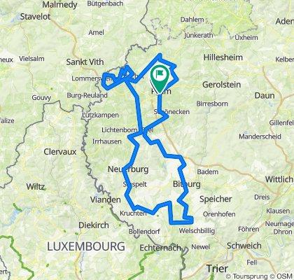 Eifel 205 Prüm, 2 km neutralisiert beim Start, dann 205 km