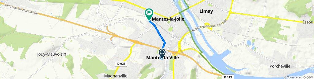 Itinéraire reposant en Mantes-la-Ville