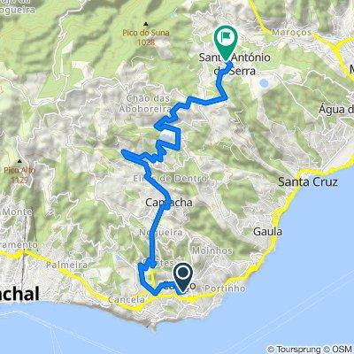 Estrada da Ponta Oliveira 44, Santa Cruz to Estrada Santo António da Serra, Santa Cruz