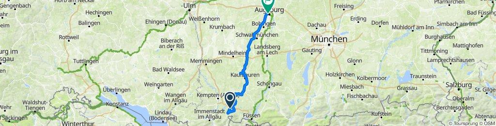 Wertach Radweg ab Oy (2 Tg)