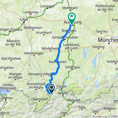 Wertach Radweg ab Tannh Tal (2 Tg)