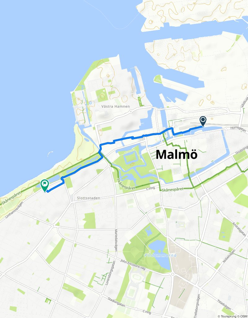 Slow ride in Malmö