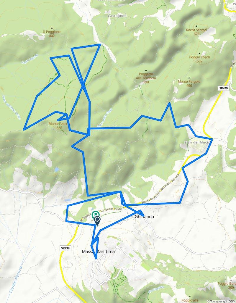 1 - MTB - Enduro - Rosso/Nero - Podere Gairlinga - Pian dei Mucini - Monte Arsenti Trail - Le Scopine - 1/2 Rock e Rool - Massa Marittima - Podere Gairlinga -