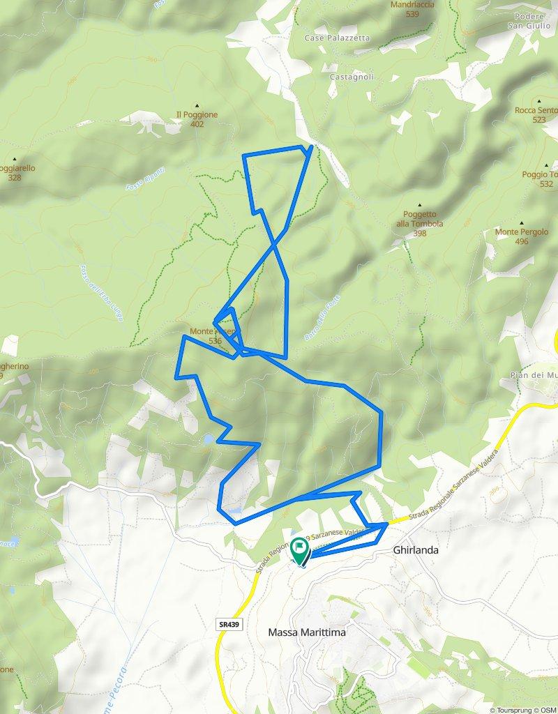3 - MTB - Enduro - Rosso - Podere Gairlinga - 1/2 Spaghetto Up - Monte Arsenti - Insoglio Trail - Benedetto Trail - Podere Giarlinga