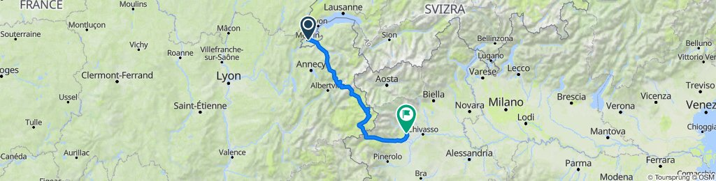 The Alps - 7 Days - 25-31/7 - Sat-Fri - 324km - Geneva to Turin
