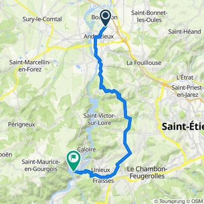 1 Allée du Levant, Andrézieux-Bouthéon to 71 Route des Gorges-Saint-Paul, Saint-Paul-en-Cornillon