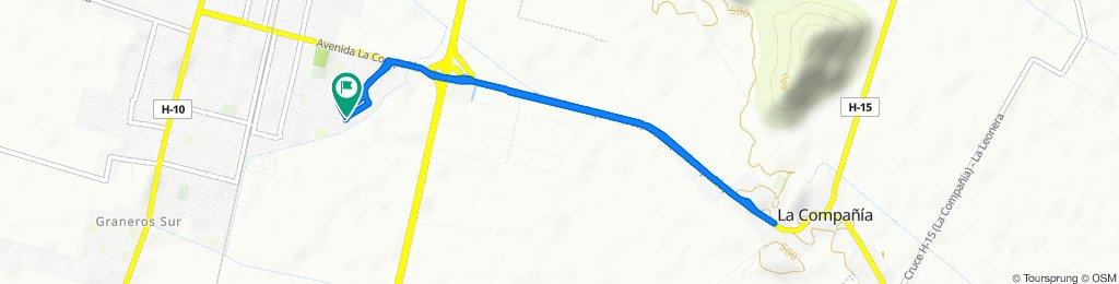 Ruta constante en Graneros
