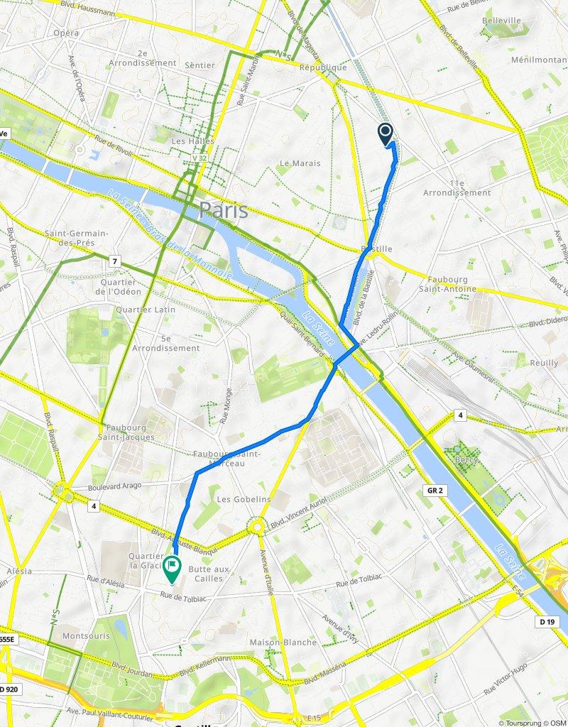 Itinéraire reposant en Paris